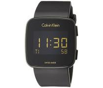 Herren Digital Uhr mit Silikon Armband K5C214D1