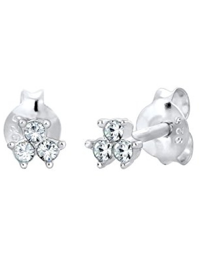 Ohrringe Geo Trio Fein Funkelnd Swarovski Kristalle in 925 Sterling Silber