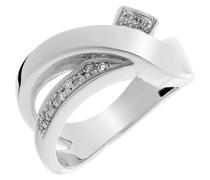 Damen-Ring 750 Gold 13 Diamanten 0.13 Carat