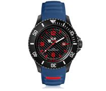 ICE carbon Black Blue - Blaue Herrenuhr mit Silikonarmband - 001313 (Large)