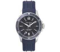 Analog Quarz Uhr mit Silikon Armband NAPFRB002