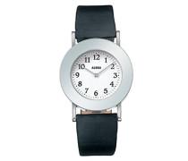 Armbanduhr Analog Automatik Leder schwarz AL4000