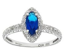 Ring 375 Weißgold 9 K Saphir Diamant PR08192W SA-K