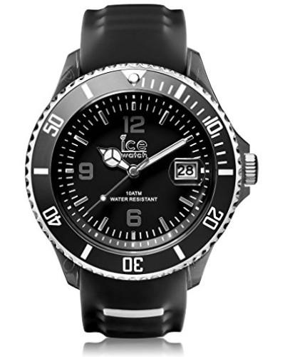 ICE sporty Black White - Schwarze Herrenuhr mit Silikonarmband - 001327 (Extra Large)