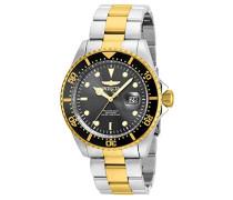 22057 Pro Diver Uhr Edelstahl Quarz schwarzen Zifferblat