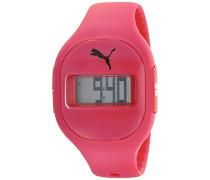 Puma Sicherung Digital Uhr mit Rot Zifferblatt Digital Display und rot PU Gurt PU910921003