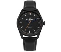 Datum klassisch Quarz Uhr mit Leder Armband WB019BB