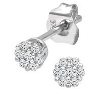 Ohrringe 9 K Weißgold Diamant 0