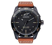 Analog Klassisch Quarz Uhr mit Leder Armband 1017-96069
