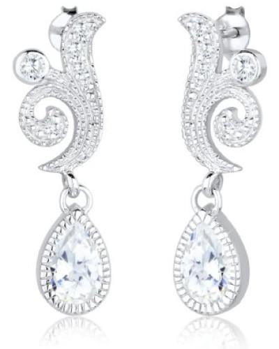PREMIUM Ohrstecker 925 Sterling Silber Kristall Zirkonia weiß 0312730613
