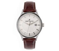 Herren-Armbanduhr Analog Quarz Leder DHH 003-FU
