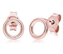 Ohrringe Basic Kreis Geo Minimal 925 Sterling Silber Rosevergoldet 0309312817