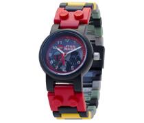 Star Wars 8020813 Boba Fett und Darth Vader Kinder-Armbanduhr mit Minifiguren und Gliederarmband zum Zusammenbauen