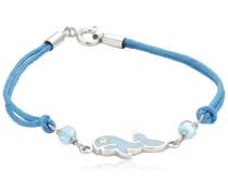 Kinderarmband 16cm 925/- Sterling Silber Delphin hellblau 273260041