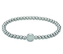 Damen-Armband Edelstahl mattiert Silber 17 cm