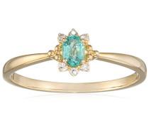 Ring 9 Karat (375) Gelbgold Smaragd-badm 07018-0001