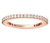 Damen-Ring Silber vergoldet Zirkonia weiß
