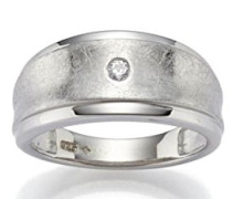Ring 925 Silber rhodiniert mattiert Zirkonia weiß