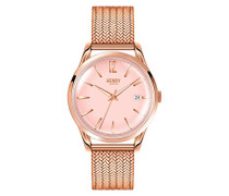 Datum klassisch Quarz Uhr mit Edelstahl Armband HL39-M-0166