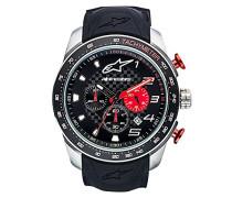 Chronograph Quarz Uhr mit Silikon Armband 1037-96000