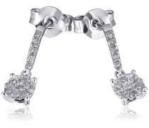 Ohrhänger Glamour 585 Weißgold 24 Diamanten 0