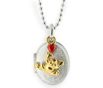 Anhänger MyName Medaillon froggy 925 Silber rhodiniert Perle - QV FR 32- 0