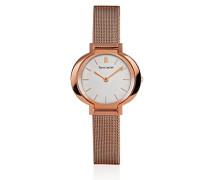 141j928 Armbanduhr 045J699 Analog silber Armband Stahl Rosa