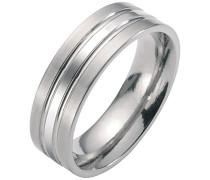 Unisex-Ring Titan silber