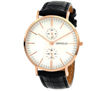 Herren-Armbanduhr Gentle Analog Quarz Leder
