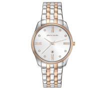 Analog Quarz Uhr mit Edelstahl Armband PC107572F07