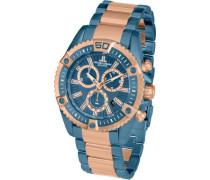 Armbanduhr XL Liverpool Professional Chronograph Quarz Edelstahl beschichtet 1-1805K