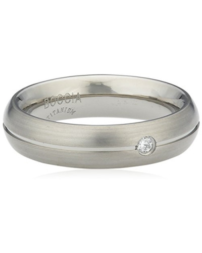 Ring Titan Diamant (0.03 ct) Brillantschliff weiß