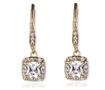 Gold-Ton durchbrochen Kristall Drop Ohrringe