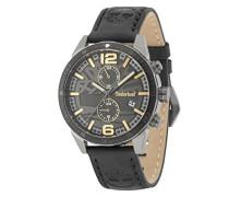 Multi Zifferblatt Quarz Uhr mit Leder Armband 15256JSUB/61