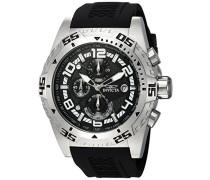 24709 Pro Diver Uhr Edelstahl Quarz schwarzen Zifferblat