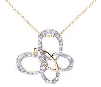 Halskette 375 Gelbgold 9 karat Diamant 0