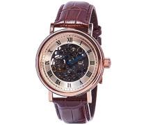 Erwachsene Analog Automatik Smart Watch Armbanduhr mit Leder Armband ES-8806-02