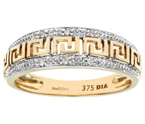 Damen-Ring 9 K Gelbgold P2 Diamant