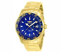25823 Pro Diver Uhr Edelstahl Quarz blauen Zifferblat