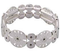 Armband Versilbert mattiert Kristall braun Rundschliff 17 cm - 211726112