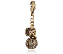 Jewelry Anhänger Messing Kristall Charms Vergoldet grau 3.8 cm 401342110
