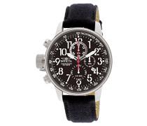 1512 I-Force Uhr Edelstahl Quarz schwarzen Zifferblat