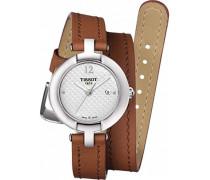 "27MM BRAUN Leder Armband Edelstahl GEHÃ""USE Uhr T084.210.16.017.04"