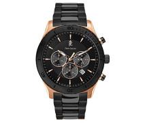 Chronograph Quarz Uhr mit Edelstahl Armband 201D039