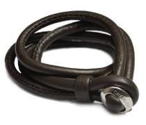 Damen-Armband Leder LBC-02-dark brown-20cm