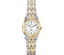 – 642364 Armbanduhr 045J699 Analog weiß Armband Metall Zweifarbig