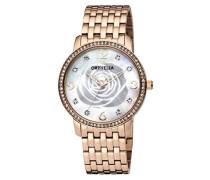 Damen-Armbanduhr La Rose Analog Quarz Edelstahl