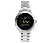 Smartwatch Q Venture 3. Generation - Edelstahl - Silber – Elegante & moderne Frauen Smartwatch – Für Android & iOS