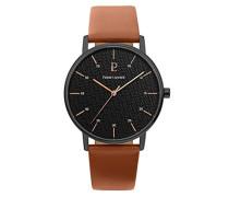 Herren Analog Quarz Uhr mit Leder Armband 203F434