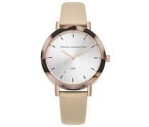 Datum klassisch Quarz Uhr mit Leder Armband FC1315C